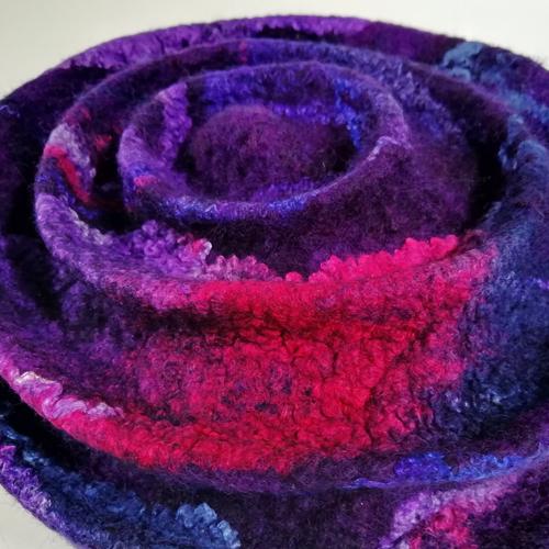 Jennie Loader Purple felted hat detail